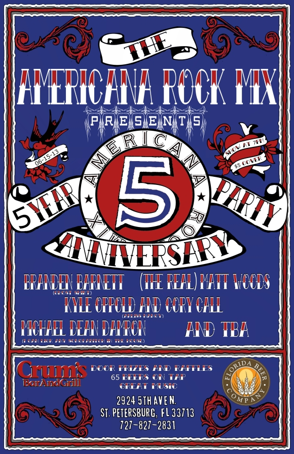 5 Year Anniversary Party Flyer